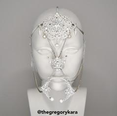 White Metal Face Piece