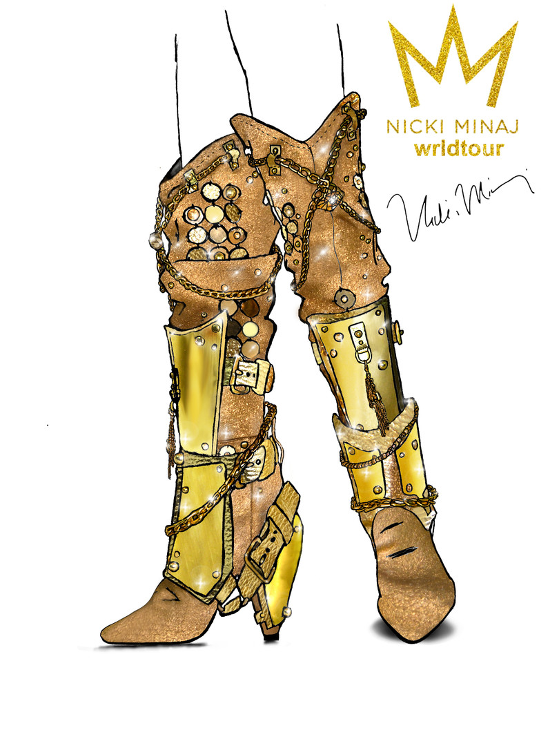 Nicki Minaj Illustrate Bootts