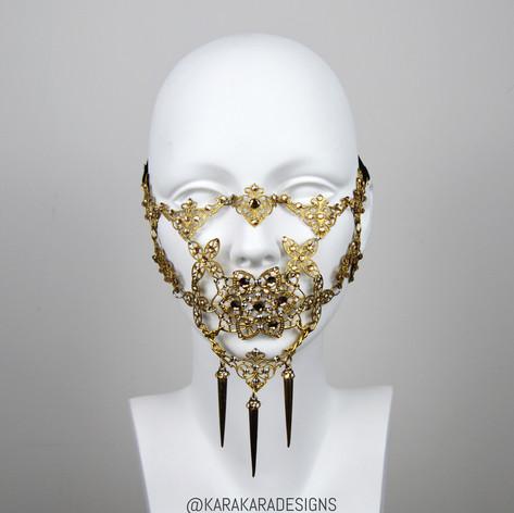 Gold Swarovski Metal Mask