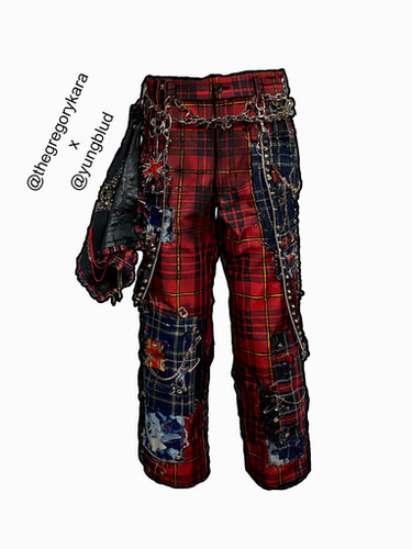 YungBlud Illustration Trousers
