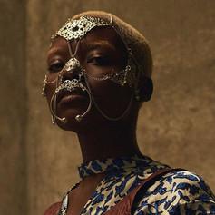 Silver Swarovski Mask for Hunger Magazine