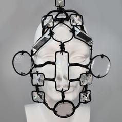 Distorted Swarovski Crystal Head Piece