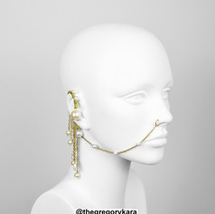 Gold Pearls Earring