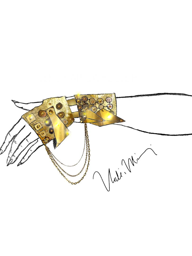 Nicki Minaj Armour Gloves Illustration