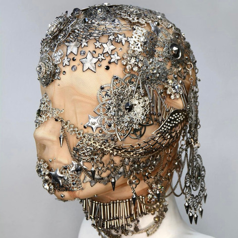 Metal Embellished Balaclava