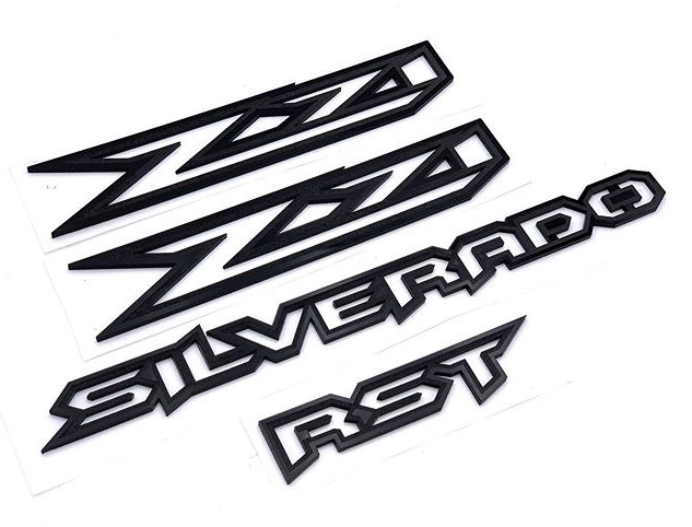 Some custom Silverado emblems finished u