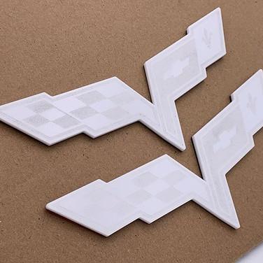 Flags in white_#C6 #c6corvette #ghost.jp