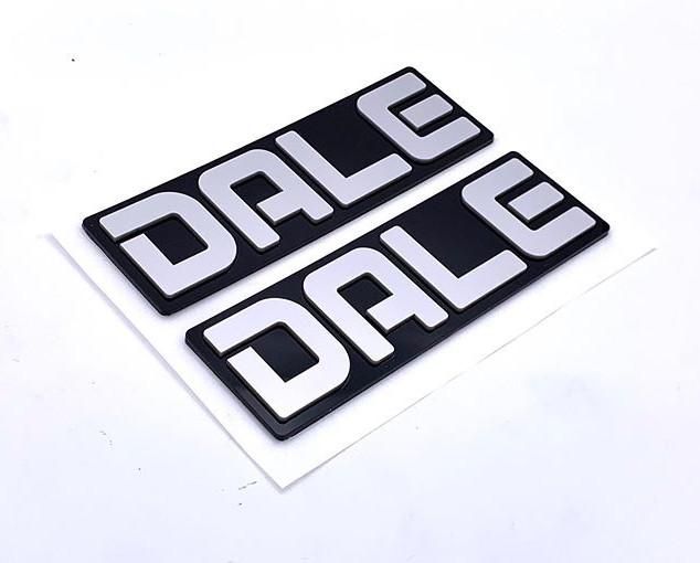 Some custom raised letter emblems for Da