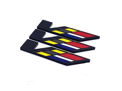 Black V Badge Set