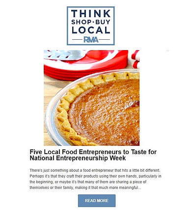 RMA's Five Local Entreprenuer Foods To T