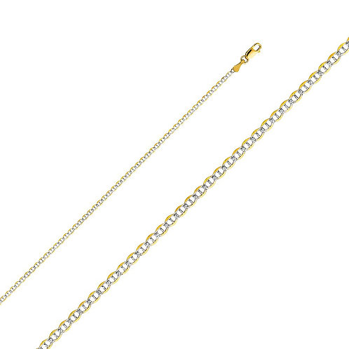 14k Yellow Gold 2-mm Mariner Chain Necklace