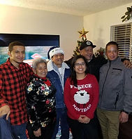 my family during christmas time with my grandparents visiting from mexico
