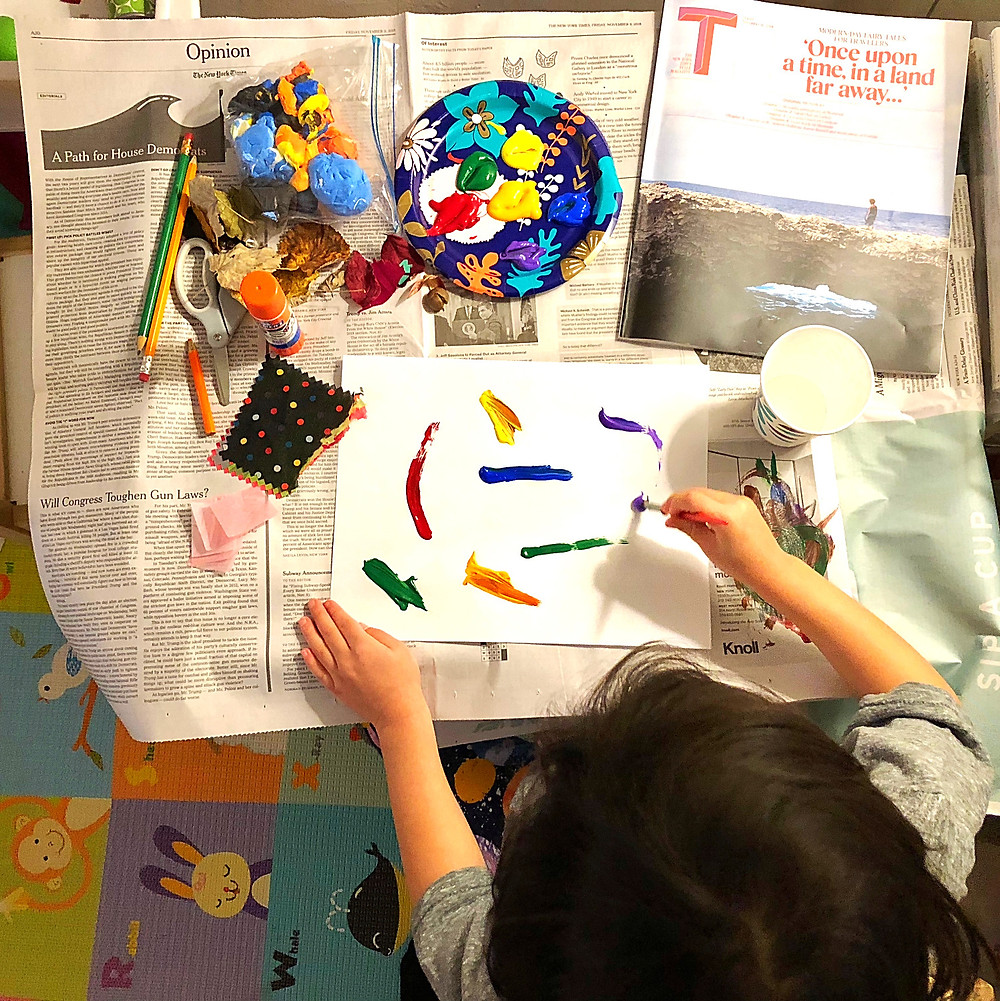 idea table craft project for kids, the best art projects for kids, art projects created by a preschool teacher, indoor activities for a rainy day, Curious G and Me