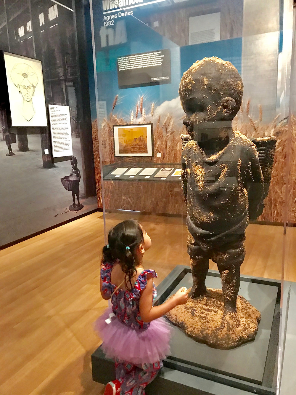 Museum of the City of New York, Interactive Mural, Things to do in NYC with kids, best nyc museums, curious g and me, kara walker, the Marvelous Sugar Baby