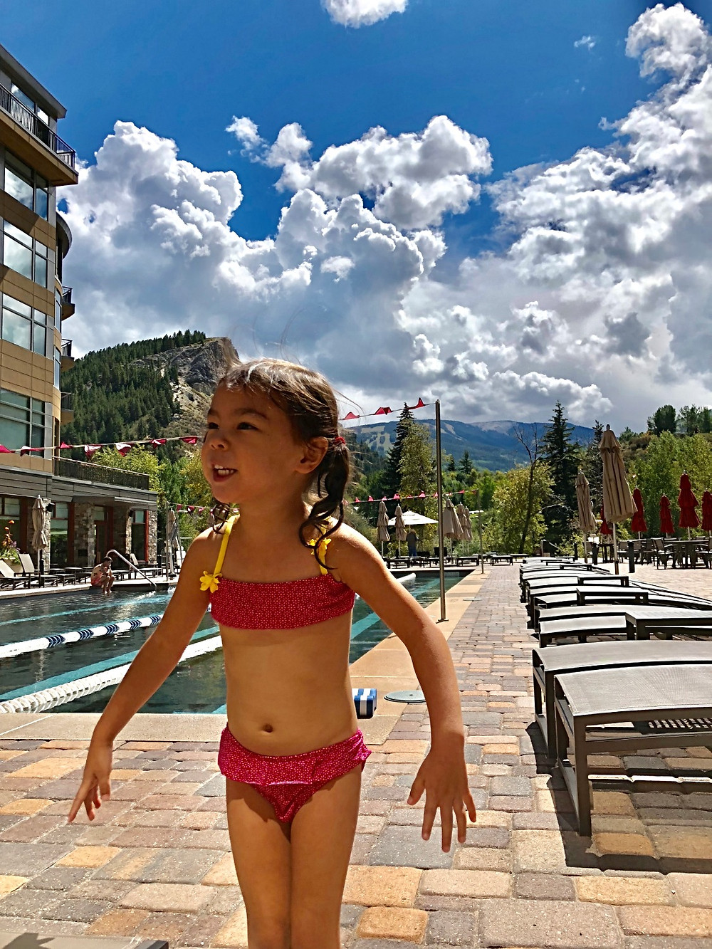 Westin Riverfront Resort and Spa, Curious G and Me, best hotels in Colorado, best hotels in Vail, best hotels in Avon, Colorado travel, Colorado family travel, Colorado with kids, Vail with kids, poolside with a mountain view, Colorado family getaway