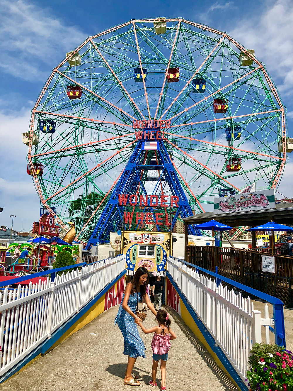 Coney Island boardwalk, Wonder Wheel, Deno's Wonder Wheel, Deno's Coney Island, Summer bucket list, New York City with kids, nyc bucket list, nyc with kids, things to do this summer with kids, Curious G and Me, NYC summer, beyond the beach, Camp Mommy, NYC family, NYC Summer Entertainment Guide for Kids, Summer fun NYC, NYC parents, NYC kids, NYC Mom Blogger, Manhattan Mom
