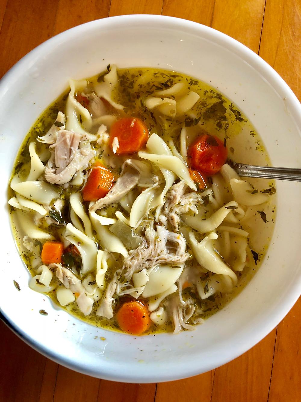 best chicken noodle soup recipes, Instant Pot chicken noodle soup, J Cooks, Curious G and Me