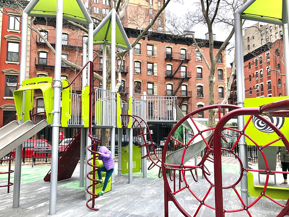 best nyc playgrounds, nolita playground, little italy, DiSalvio Playground, Curious G and Me