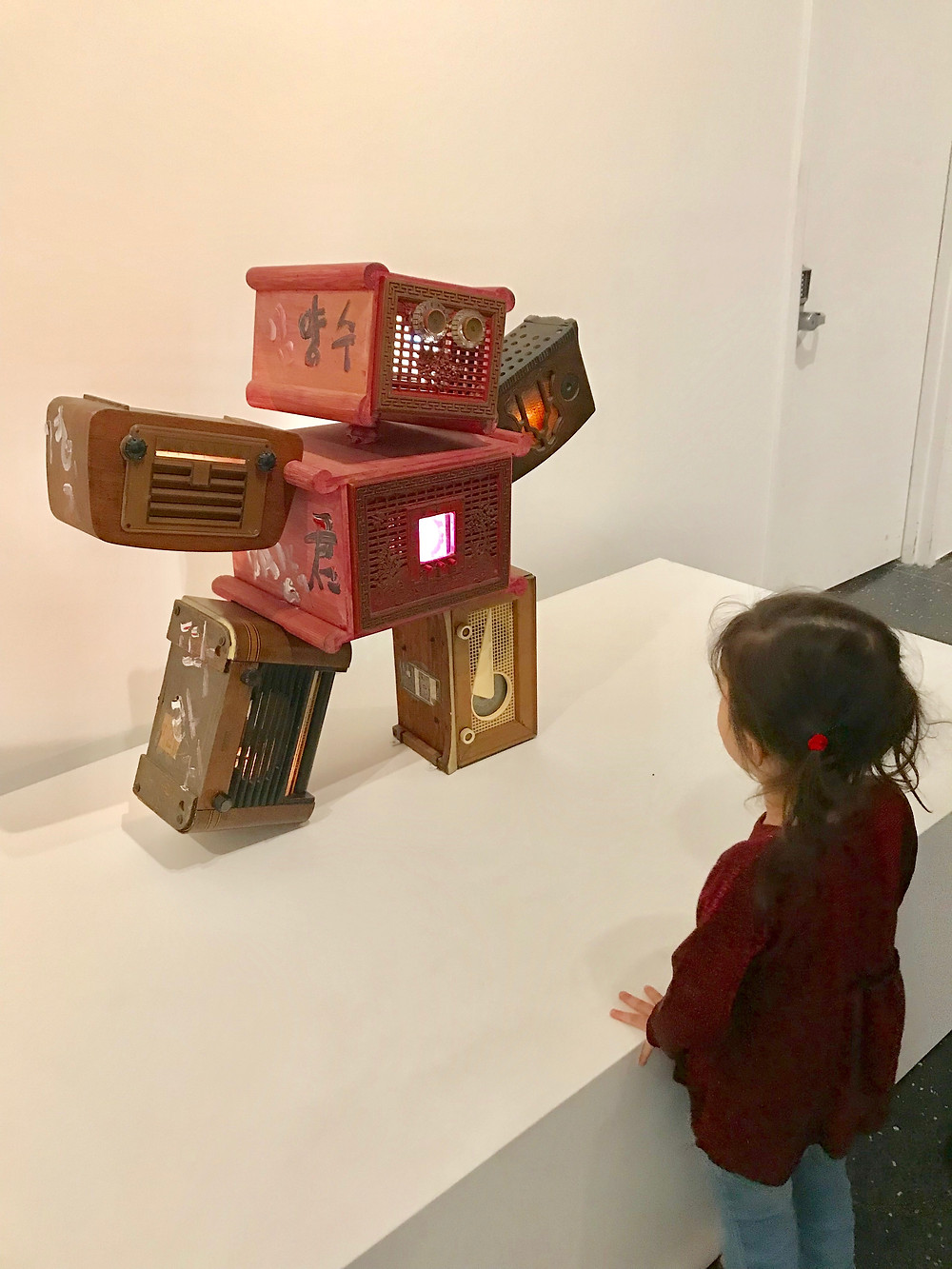 Brooklyn Museum, Nam June Paik, nyc with kids, Curious G and Me, Brooklyn Botanical Garden
