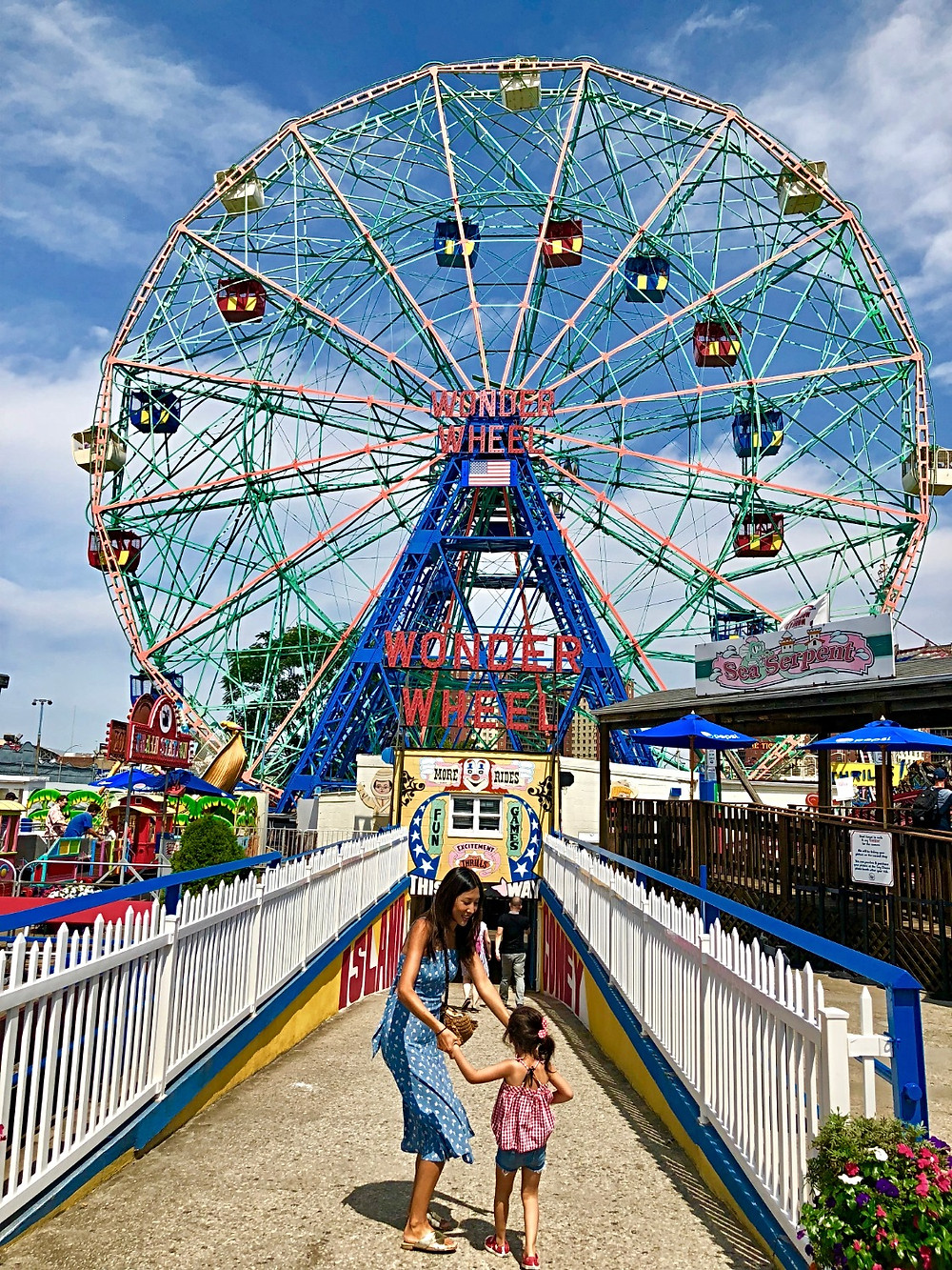 Coney Island, Wonder Wheel, Deno's Wonder Wheel Amusement Park, Coney Island with kids, Amusement Park with kids, kiddie rides, ferris wheel with kids, carnival games, Brooklyn with kids