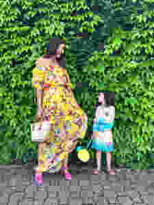 Curious G and Me, Century 21, Shopping for the whole family, summer fashion, NYC with kids, NYC Mom Blogger, Fashion Moms, NYC Shopping, Shopping with kids, the best shopping in NYC, Aquazzura, Mommy and Me Fashion