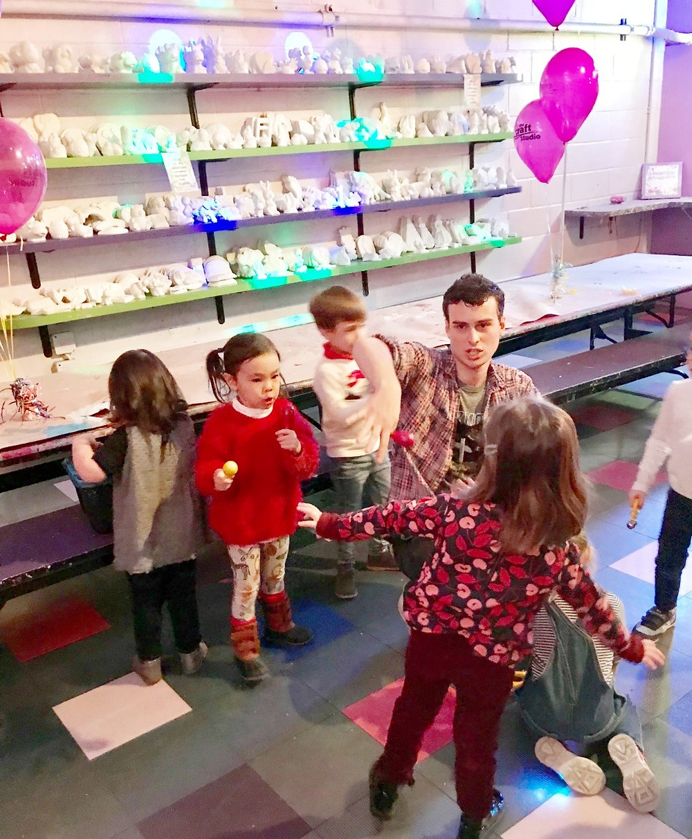 The Craft Studio, arts and crafts for kids, winder indoor fun guide for kids 2018, Curious G and Me, kids ceramics party