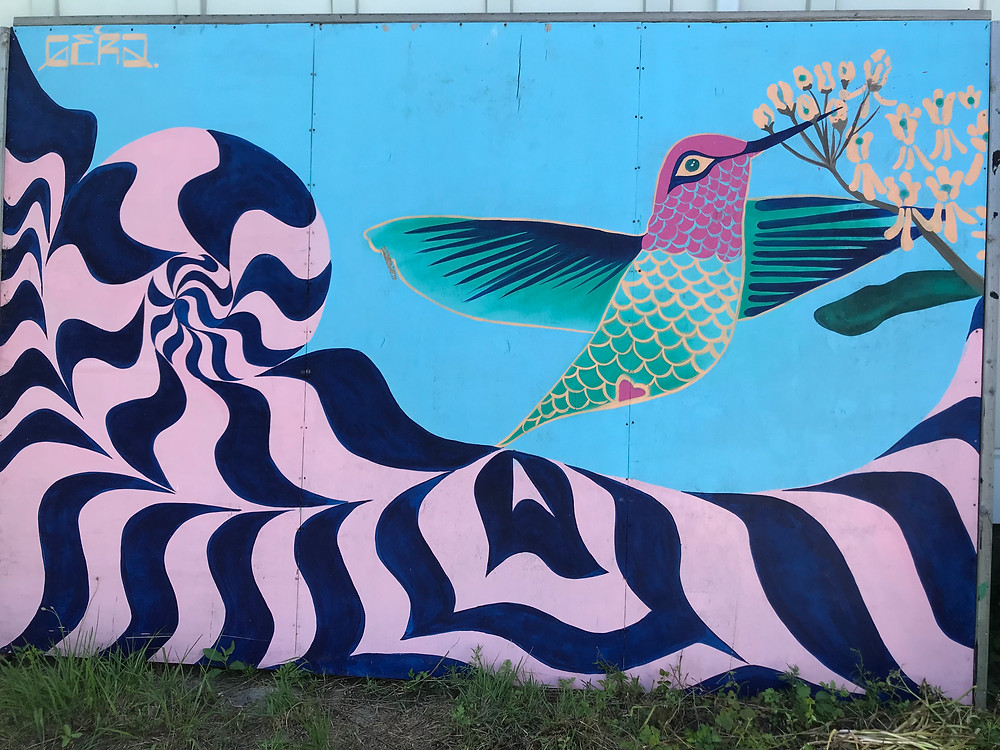 Fort Tilden, Rockaway Artists Alliance, Yayoi Kusama, Narcissus Garden, Curious G and Me, hummingbird mural, Gera Lozano