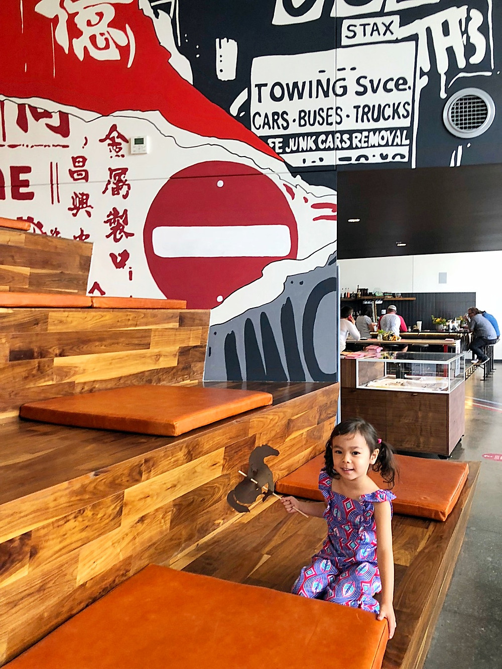 Denver with kids, RiNo, River North Arts District, Crush Walls, Denver art, Kate Moss, James Dean, Zeppelin Station, Big Trouble