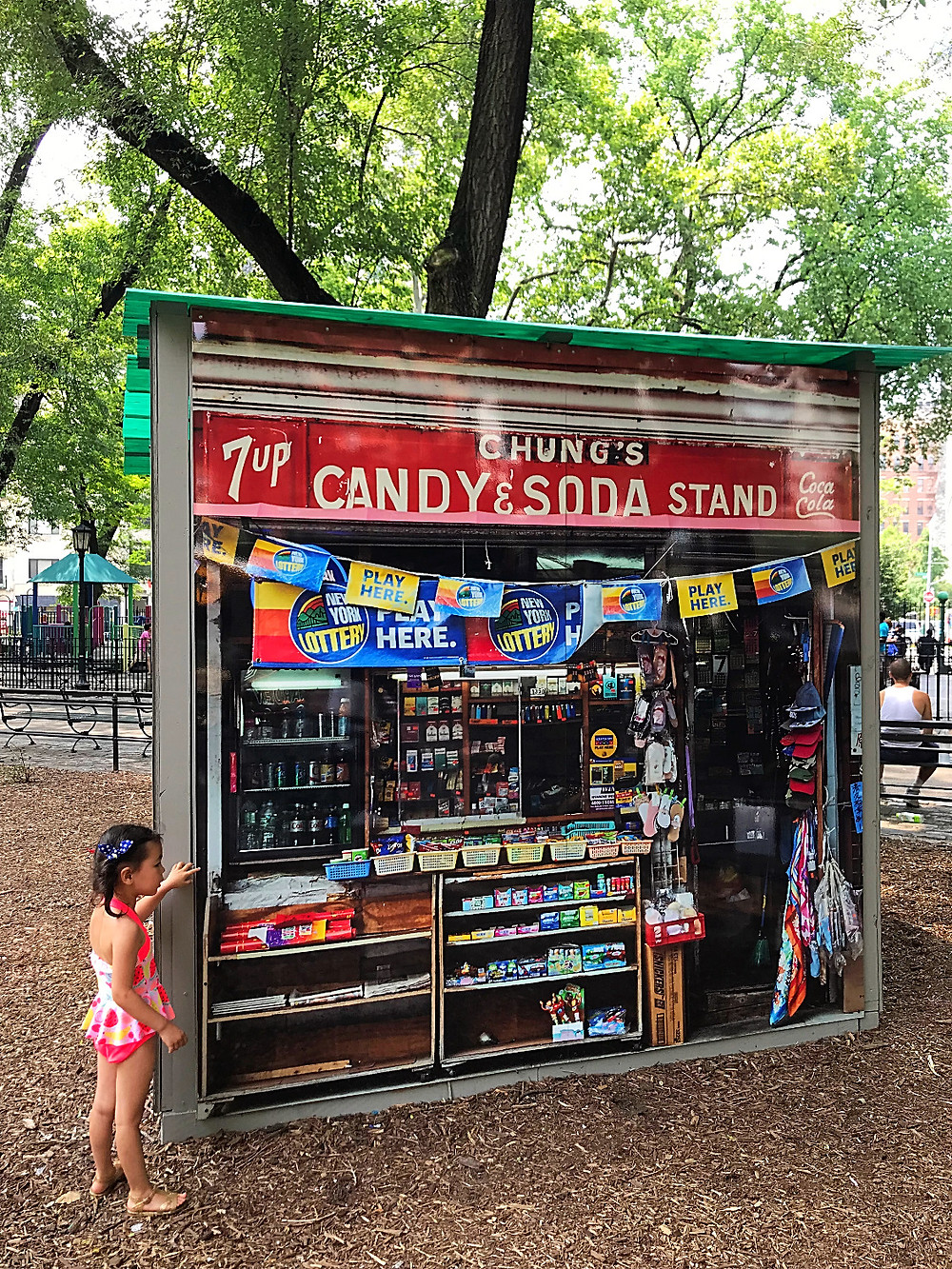 Seward Park, Mom and Pops of the LES, James and Karla, James and Karla Murray, Katz's Deli, Store Fronts of NYC, NYC playgrounds, NYC summer, Chinatown playgrounds, Lower East Side playgrounds, public art, Curious G and Me, NYC bodega