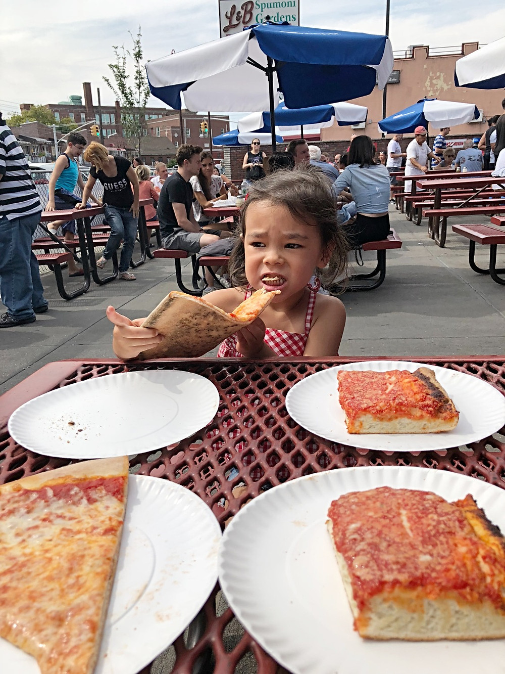 L & B Spumoni Gardens, best pizza in NYC, Btooklyn pizza, spumoni ice cream