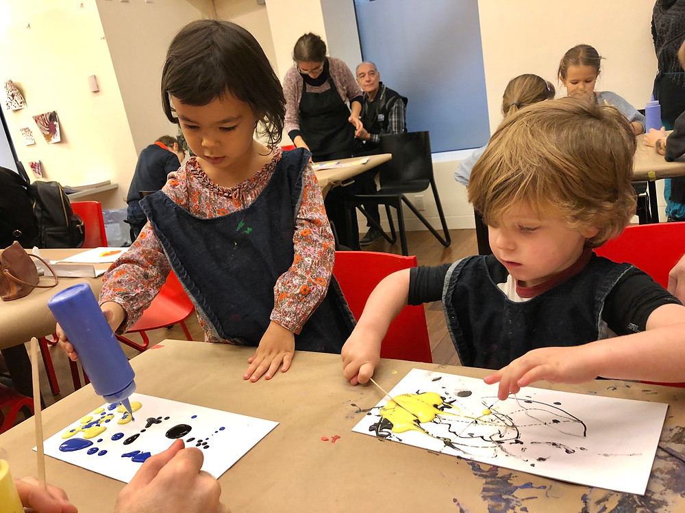 The Rubin, kids in museums, art projects for kids, Rangoli painting, Curious G and Me, What to do with kids in NC