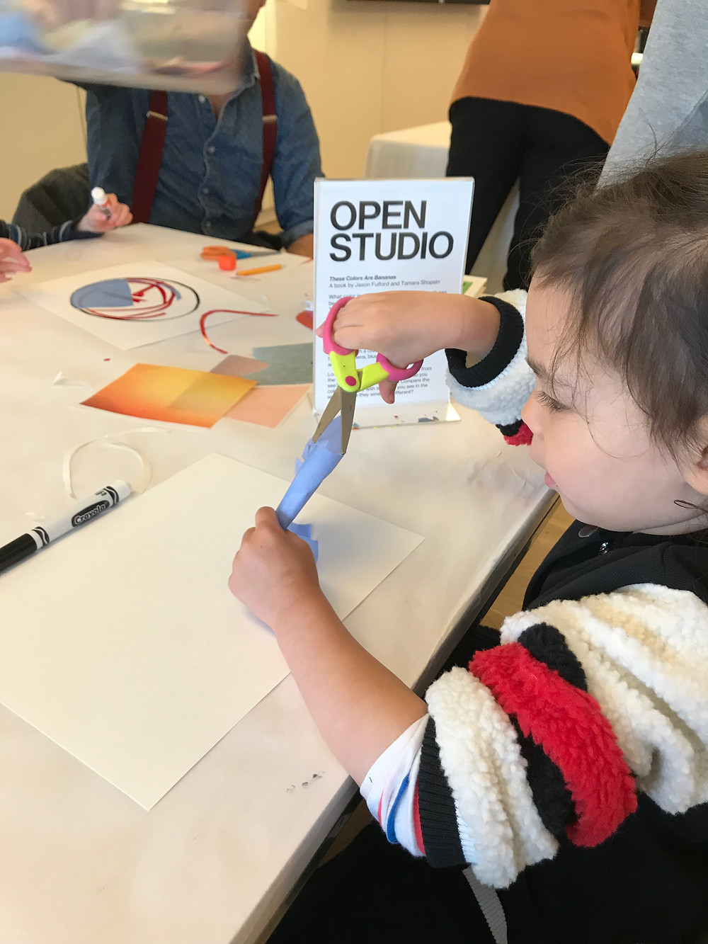 Open Studio at the Whitney, Open Studio, Whitney Museum, Tamara Shopshin, These Colors are Bananas, Curious G and Me