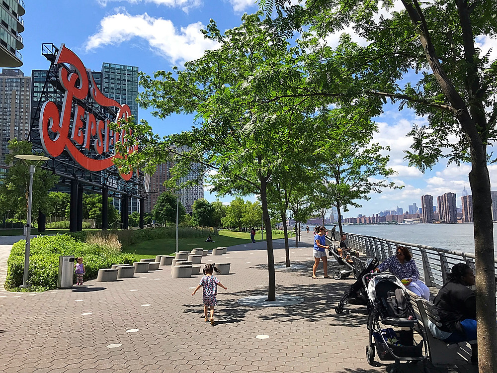 Long Island City, NYC hidden gem, Gantry Plaza State Park, Curious G and Me, NYC summer