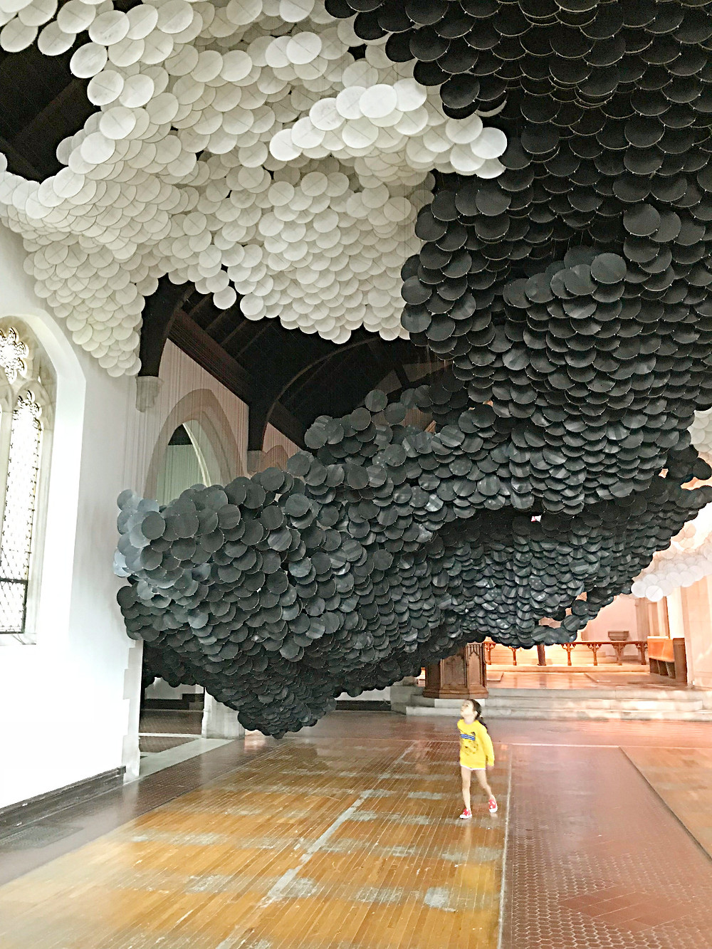 Governor's Island, NYC with kids, Curious G and Me, Jacob Hashimoto, The Eclipse, St Cornelius Chapel, camp mommy