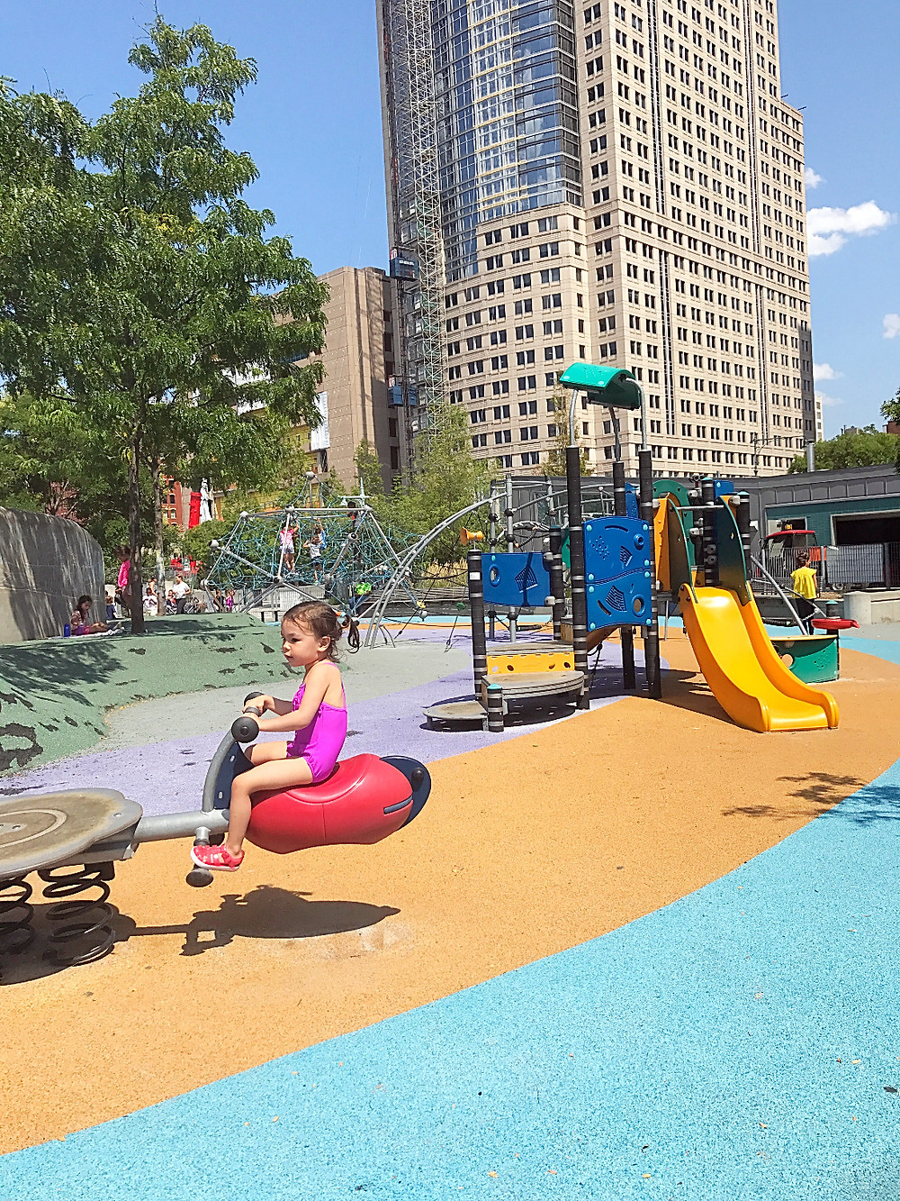 Battery Park City, Hudson River Park, nyc summer with kids, Pier 25, nyc playgrounds, Preschool Art, Curious G and Me, Oculus, One World Trade Center