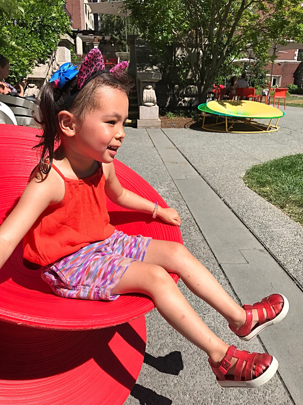 Cooper Hewitt, museums with kids, cultured kids, nyc kids, things to do this summer, things to do with kids this summer in nyc, Manhattan Color Walk, Color Factory, Herman Miller Magis Spun Chair