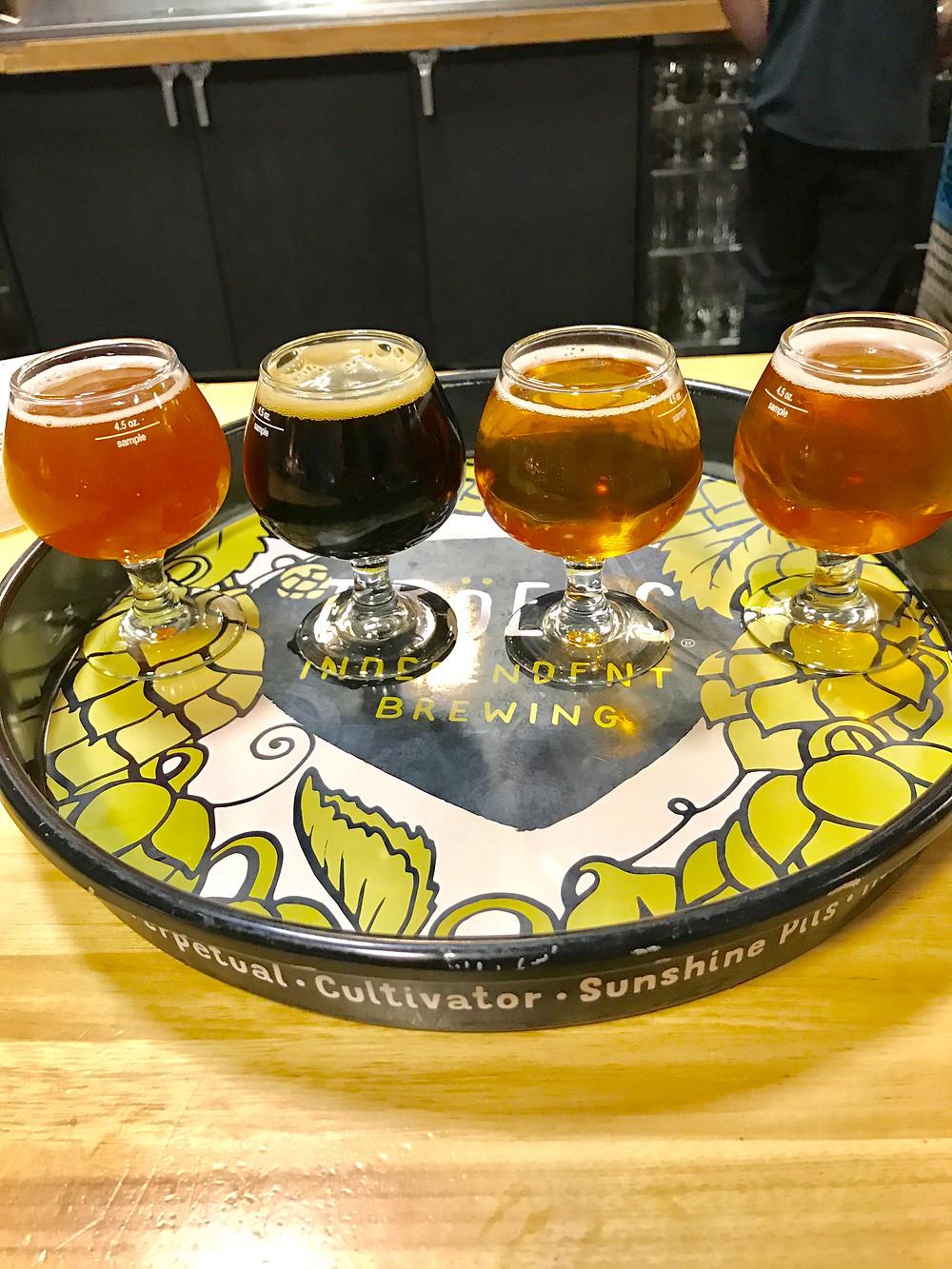 Troegs, brewery, kid friendly dining, Curious G and Me, Hershey restaurants, Hershey brewery, beer flight