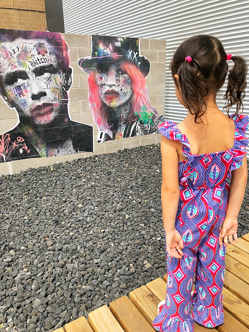 Denver with kids, RiNo, River North Arts District, Crush Walls, Denver art, Kate Moss, James Dean, Zeppelin Station