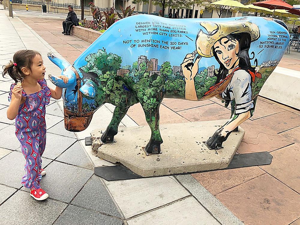 Denver with kids, Red Rocks Park, hiking with kids, family travel, Colorado with kids, FTW, kids in arcades, 16th Street Mall with kids, Denver with kids, public art in Denver, Denver Broncos