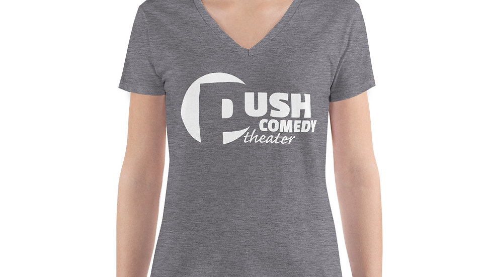 Push Comedy Theater Women's Fashion Deep V-neck Tee