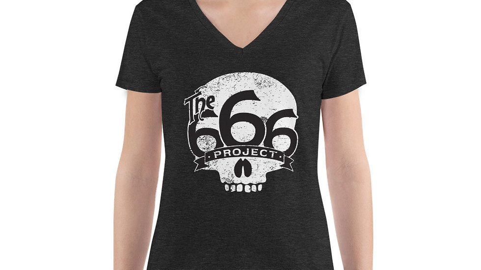 New 666 Project New Women's Fashion Deep V-neck Tee