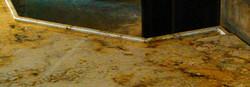 Granite bar nested glass ledge