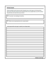 SSAT essay