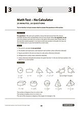 SAT Math Test - No Calculator