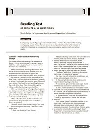 SAT Reading Test