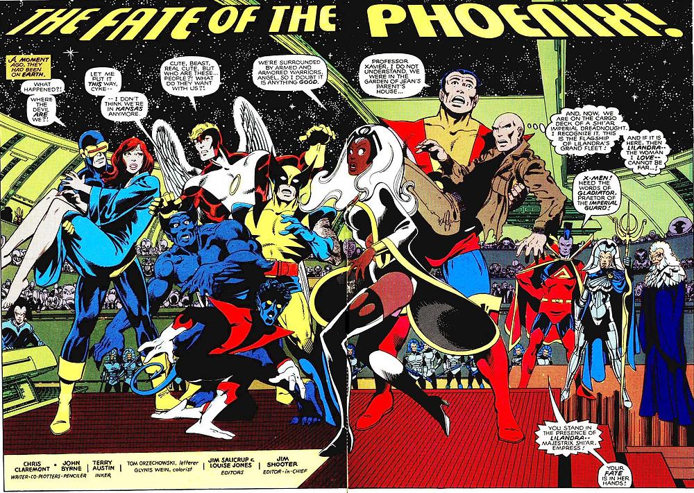 The X-Men 137, septembre 1980, dessin de John Byrne et texte de Chris Claremont