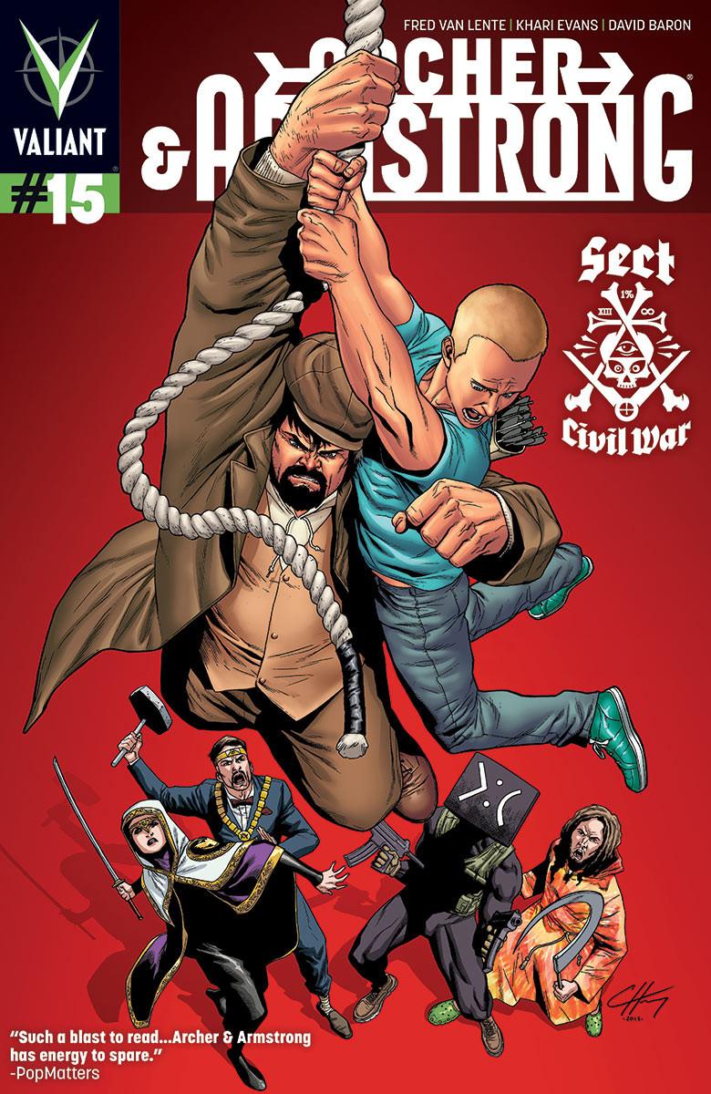 Archer & Armstrong # 15 Couverture de Clayton henry