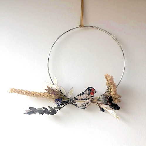 Goldfinch Circle Wreath (large)
