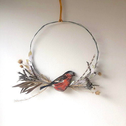 Bullfinch Circle Wreath (large)