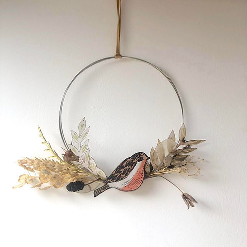 Robin Circle Wreath (large)
